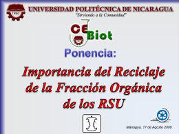 Programa Municipal: Prevención y Gestión Integral