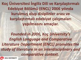 Founded in 2006, Koç University's English Language