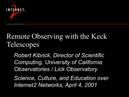 Remote Observing with the Keck Telescopes