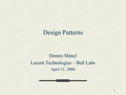 Design Patterns - New Jersey Institute of