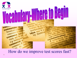 Vocabulary Strategies - PCS Middle School Language