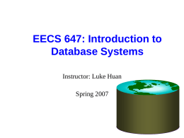 CS186: Introduction to Database Systems
