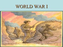 WORLD WAR I - Solon City Schools