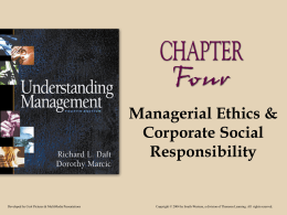 Chapter 05 Managerial Ethics and Corporate Social