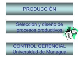 Tema 4: Selección y diseño de procesos productivos