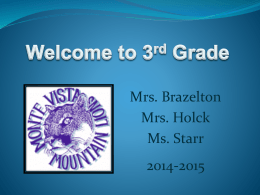 Welcome to 3rd Grade - Kyrene School District