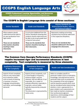 CCGPS English Language Arts