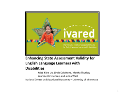 Enhancing State Assessment Validity for English
