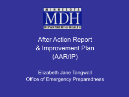 After Action Report and Improvement Plan (AAR/IP)