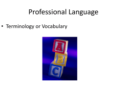 Professional Language - Murray State University
