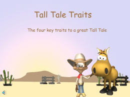 Tall Tale Traits