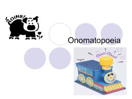 Onomatopoeia - Westfield State University:
