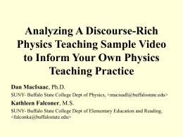 Analyzing A Discourse-Rich Physics