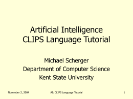 Artificial Intelligence Chapter 1