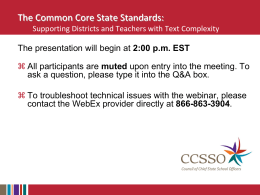 CCSSO_PowerPoint - Council of Chief State School