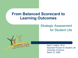 From Balanced Scorecard to Learning Outcomes