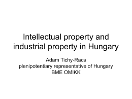 Intellectual property and industrial property in