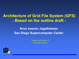 Architecture of Grid File System