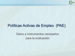 Polítiques Actives d'Ocupació (PAO)