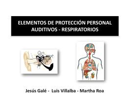 ELEMENTOS DE PROTECCIÓN PERSONAL AUDITIVOS -