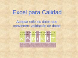 Excel kalitateari begira