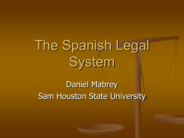 The Spanish Legal System