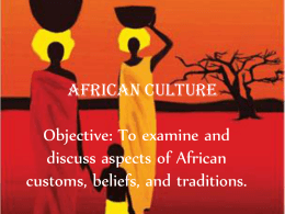 African Culture - Ramsey School District /