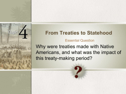 From Treaties to Statehood