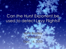 Calculating the Hurst Exponent