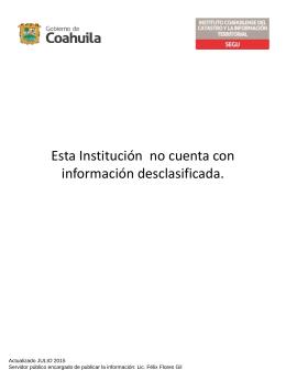 El Instituto Coahuilense del Catastro y la