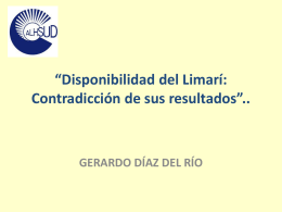 Disponibilidad del Limarí: Contradicción de sus