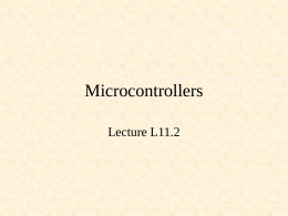 Microcontrollers - Computer Science and