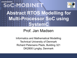 SoC-mobinet - Technical University of Denmark