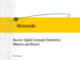 Microcode - La Salle University
