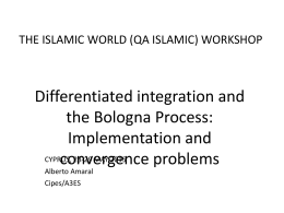 THE ISLAMIC WORLD (QA ISLAMIC) WORKSHOP