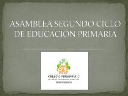 ASAMBLEA SEGUNDO CICLO DE EDUCACIÓN PRIMARIA
