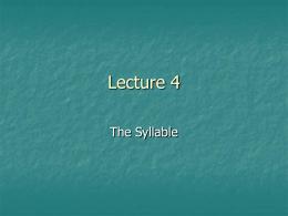 Lecture 4 - Home - KSU Faculty Member websites
