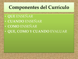 Componentes del Curículum