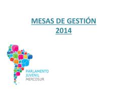 MESAS DE GESTIÓN 2014
