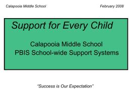 Calapooia Middle School PBIS School