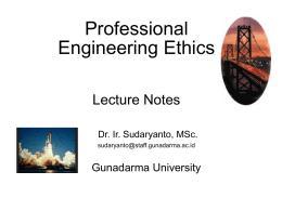 Professional Ethics - Gunadarma University