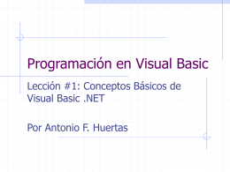 Programación en Visual Basic