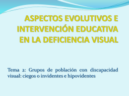 ASPECTOS EVOLUTIVOS E INTERVENCIÓN EDUCATIVA EN LA