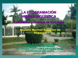 PROYECTO CTS LA PROGRAMACIÓN NEUROLINGÜISTICA