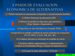 Evaluación Alternativas