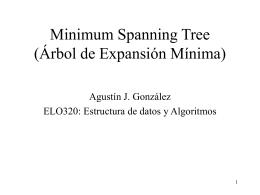 Minimum Spanning Tree (Árbol de Expansión Mínima)
