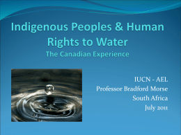 The Aboriginal Water Crisis in Canada: What can be