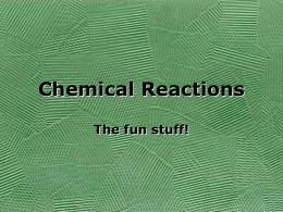 Chemical Reactions - Independent School District