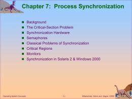 Module 7: Process Synchronization