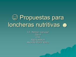 Propuestas para loncheras nutritivas - Inicio -